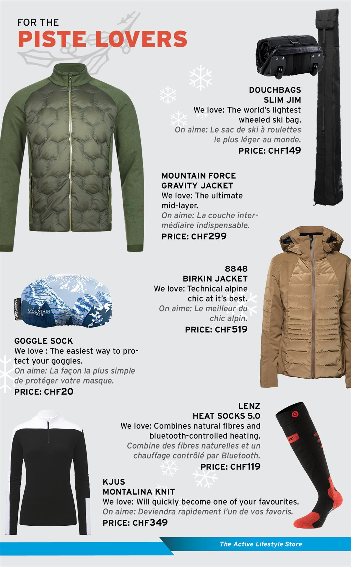 Gifts for the piste lovers