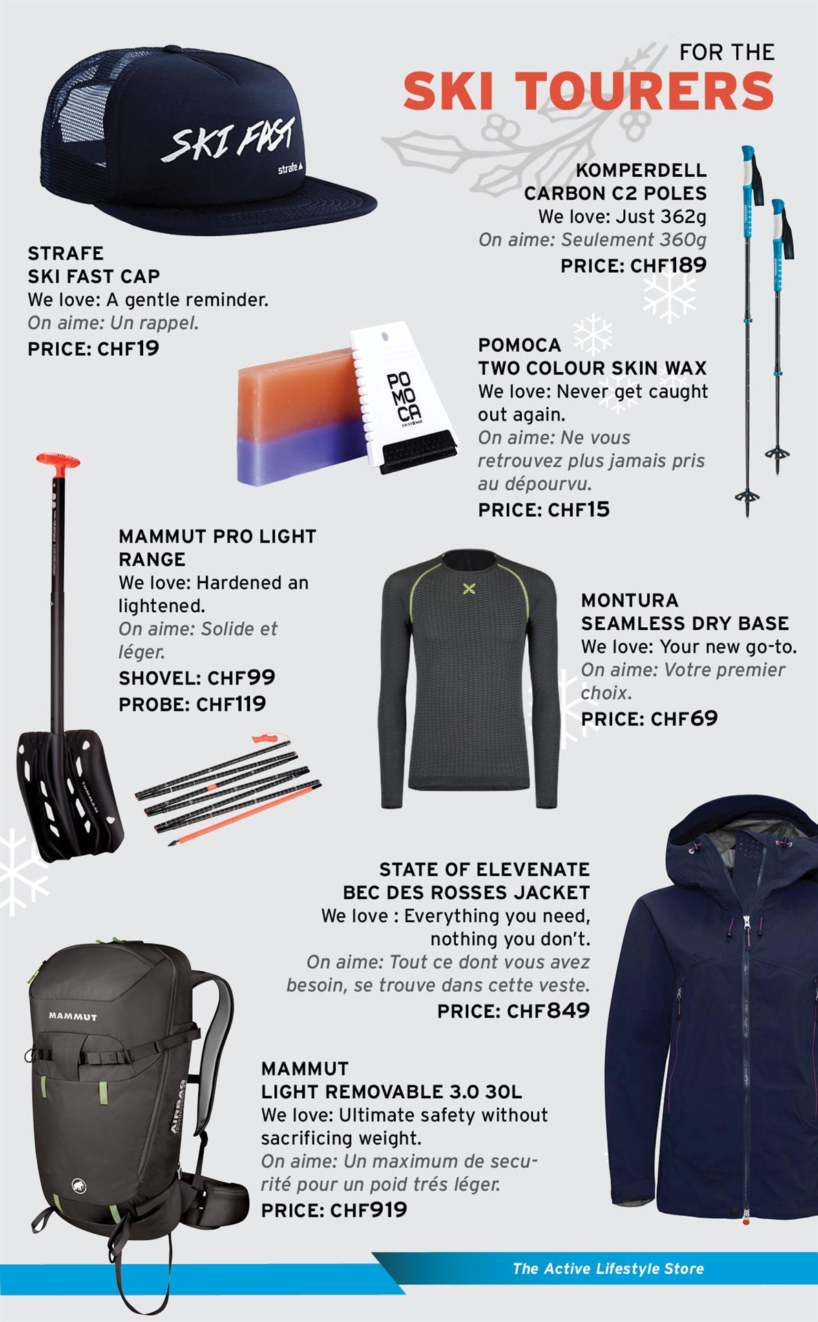 Gifts for the ski tourers
